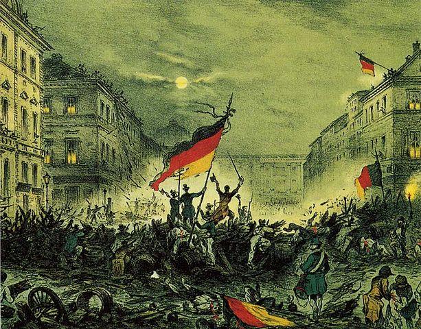 Revolution of 1848. Berlin.