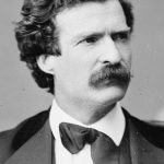 Mark Twain ca. 1871  Who knew the younger Twain was a hottie?